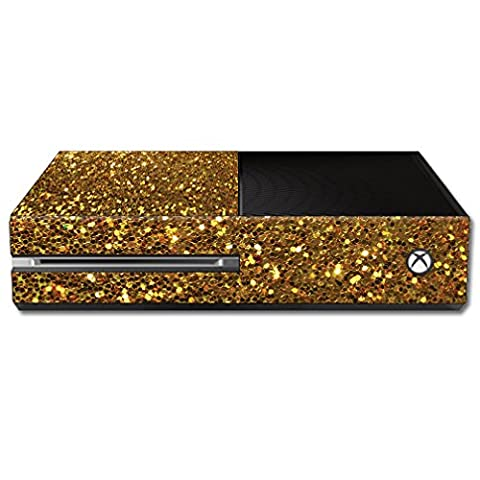 Skin For Microsoft Xbox One Console – Gold Dazzle | MightySkins Protective, Durable, and Unique Vinyl Decal wrap cover | Easy To Apply, Remove, and Change Styles | Made in the (Dazzle For Xbox)