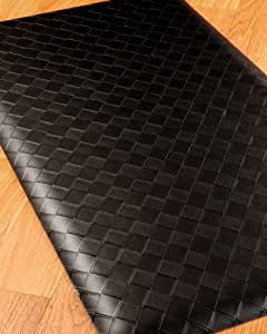 Fiore Anti Fatigue Mat - 20x36 Black, Reduces discomfort on back, feet and joints. Durable and stain resistant.