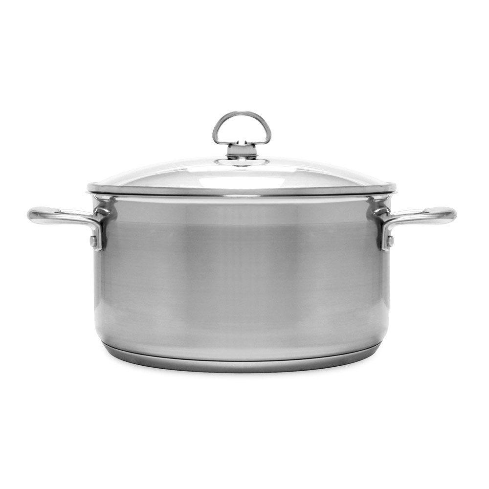 Chantal SLIN32-240 Induction 21 Steel Casserole with Glass Tempered Lid (6-Quart)