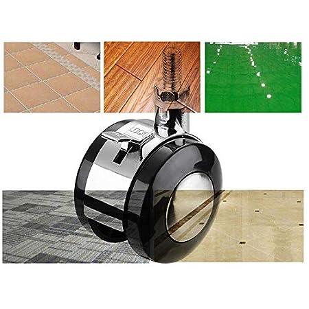 geeignet f/ür Couchtisch-Nachttisch-Werkbank 1,5-Zoll- // 40-mm-M/öbelrollen mit Gewindezapfen,Lenkrollen mit Bremsen 4 Packungen//Schwarz Belastbarkeit 45 kg