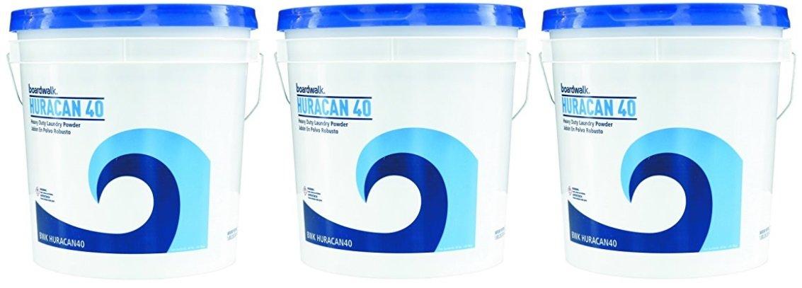 Boardwalk HURACAN40 Low Suds Laundry Detergent, Powder, 3 pails