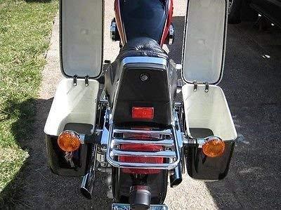 New Hard Saddle bags Saddlebags w/ mounting kits Fit Honda Shadow Kawasaki Vulcan VN Black by EGO BIKE (Image #6)