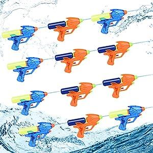 Herefun Pistola de Agua Pequeña, 12Pcs Pistola de Agua Verano Juguetes de Agua, Pistola de Agua Juguete, Piscina Juguetes Niños para Jardín Verano Piscina Playa Juego al Aire Libre