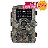 Trail Camera - Distianert Trail Camera 12MP 1080P ( Photo up to 16MP) Wildlife Game Camera Low Glow with 0.6S Trigger Time 80 FT Detection Range 120°Range & 47 Pcs IR LEDs for Wildlife Monitoring