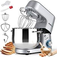 Stand Mixer,Kuccu 660W 6 Speeds Tilt-Head Food Dough Mixer with 8 Qt Stainless Steel Bowl, Electric Kitchen Mixer with...