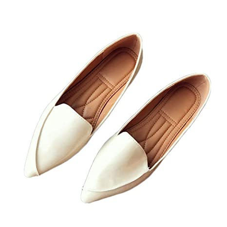 8b3823b8f1cf0 Amazon.com: York Zhu Womens Classic Pointy Toe Ballet Flats Slip On ...