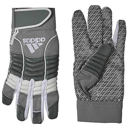 adidas Mens Blitz Linebacker II Football Gloves Grey S