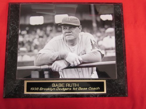 Babe Ruth Brooklyn Dodgers Engraved Collector Plaque #2 w/8x10 RARE -