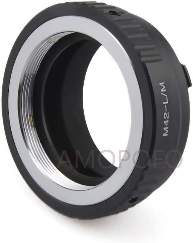 Screw Mount Lens to /& for Leica M L//M M9 M8 M7 M6 M5 M42 to LM Lens Adapter Compatible with M42 Compatible TECHART LM-EA 7 Adapter 42x1mm
