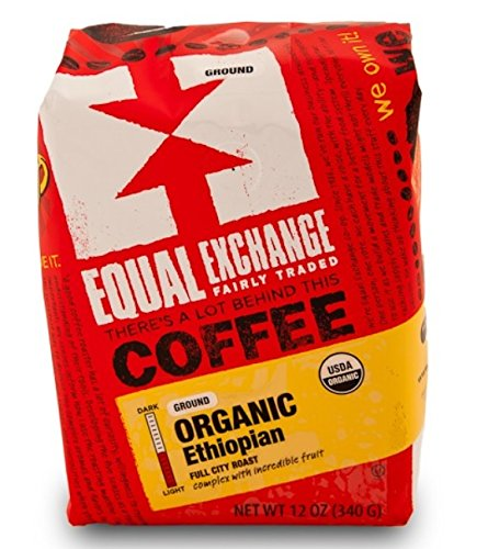 Equal Exchange Organic Coffee Ethiopian Whole Bean (6x12Oz ) 1 Enjoy equal exchange organic coffee ethiopian whole bean. This naturally processed coffee is incredibly complex with blueberry, chocolate and fresh ginger