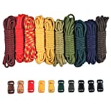 PARACORD PLANET 550lb Type III Paracord Combo Crafting Kits with Buckles (Boy Scouts)
