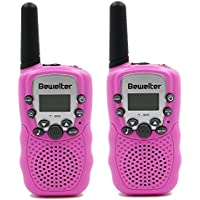 Bewelter Kids Walkie Talkies Two Way Radios 2 Packs 22 Channel 3000M (MAX 5000M Open Field) UHF Long Range Handheld Walkie Talky for Indoor Outdoor Activities,Best Christmas Gift for Children