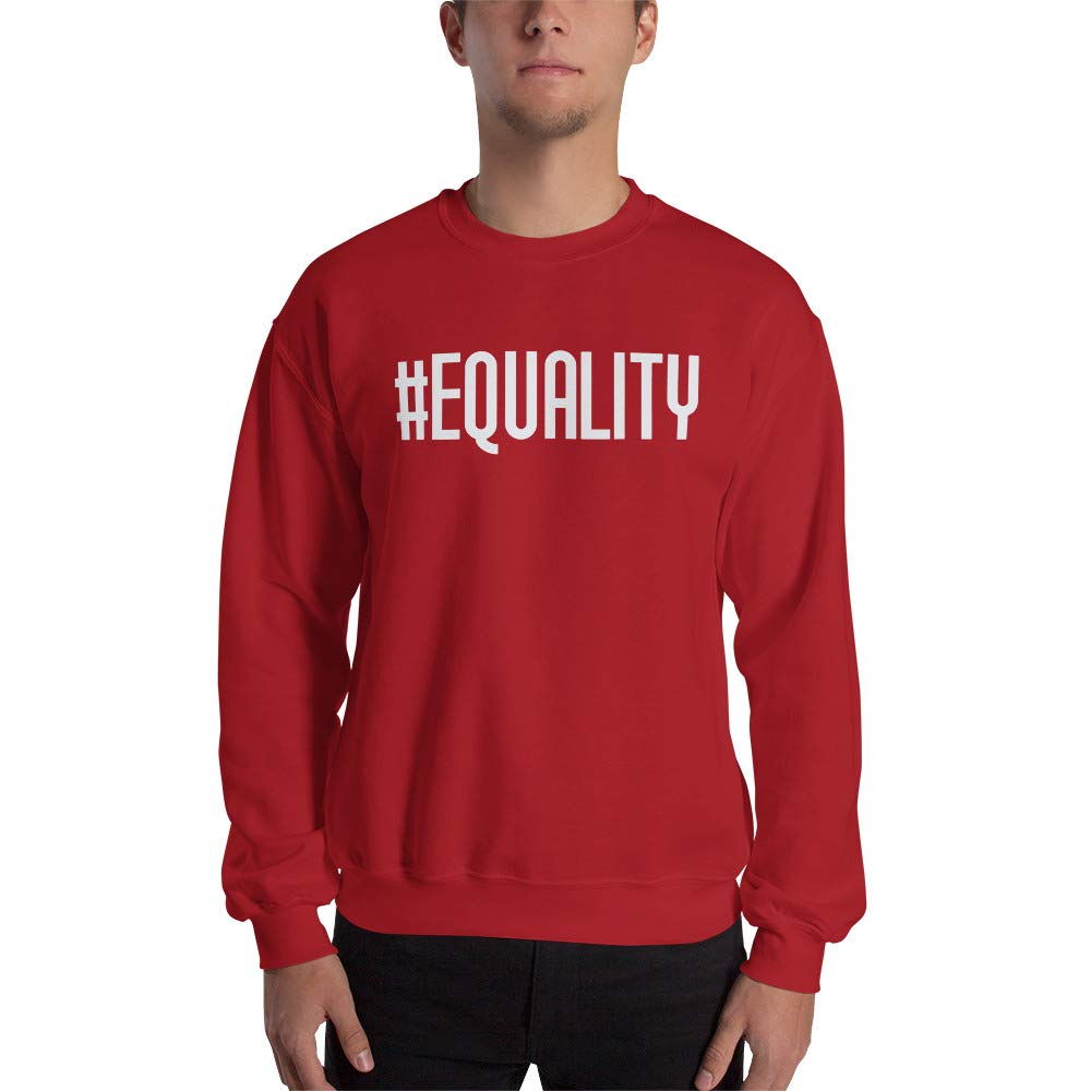 Unisex Sweatshirt Red STFND #Equality