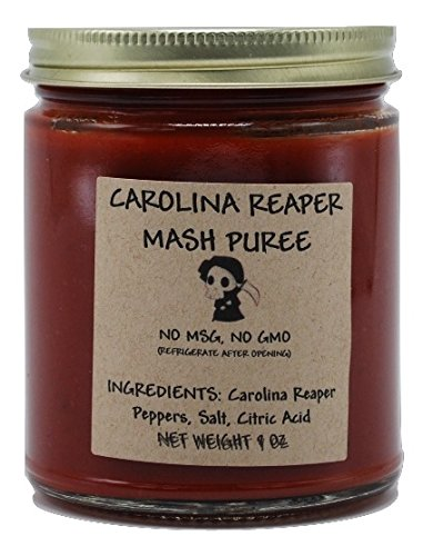 Carolina Reaper Mash Puree 9 Oz | Hottest Chili in the World | Free Shipping in USA