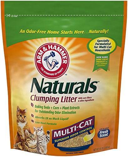 Arm & Hammer Naturals, Multi-Cat Litter, 18 Lbs - Corn Cob Litter