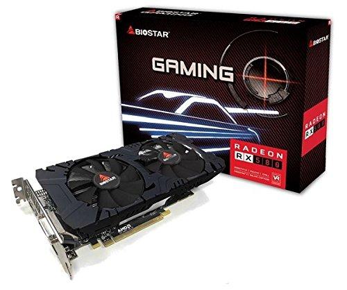 Biostar Radeon RX 580 8GB DDR5 DirectX 12 Elpidia Ram HDMI / DVI-D / DP PCI-E Graphics Card VA58D5RV82