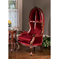 Design Toscano Victorian Balloon Fabric Arm Chair