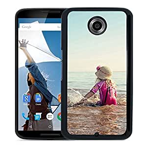 Girl Playing Beach Durable High Quality Google Nexus 6 Case