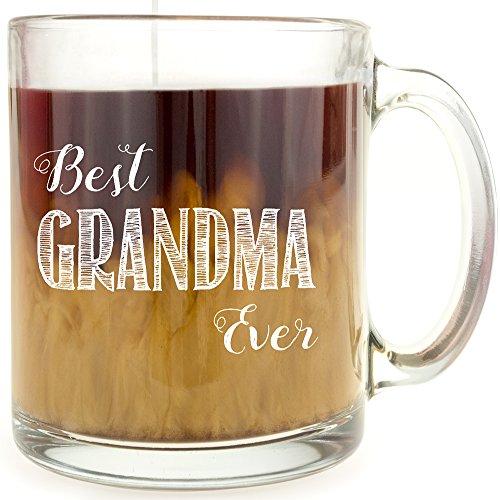 Best Grandma Ever - Glass Coffee Mug - Makes a Great ()