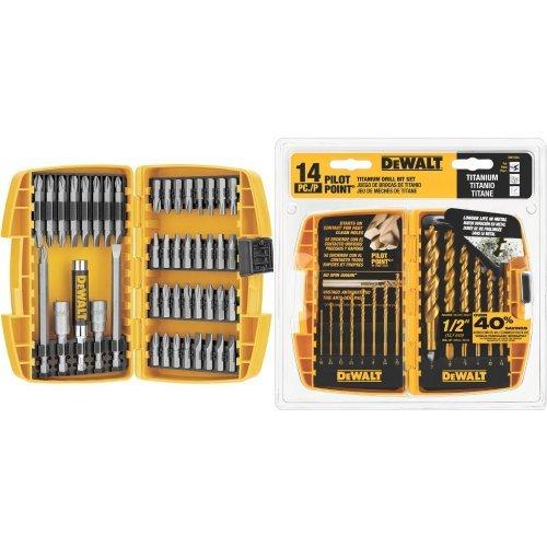 Price comparison product image DEWALT DW2166 45-Piece Screwdriving Set with 14-Piece Titanium Drill Bit Set