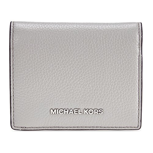 Michael Kors Mercer Flap Card Holder - Pearl Grey (Flap Card Holder Womens)