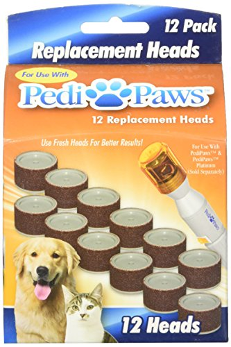 2 Packs of 12 Pedipaws Replacement Filing Heads