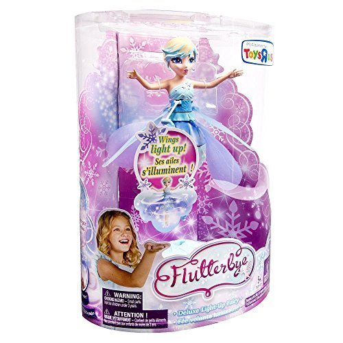 Flutterbye Flying Fairy Doll Snowflake Fairy