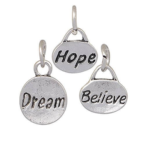 Believe Charms Expandable Bangle Bracelet