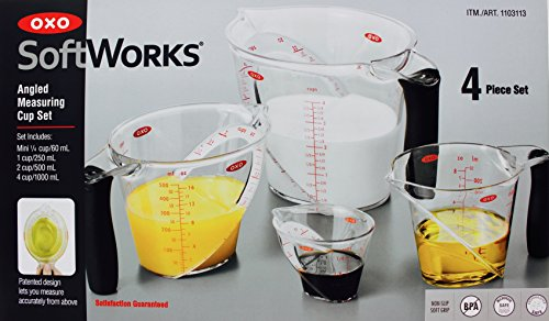 OXO SoftWorks 4 Piece Angled Measuring Cup Set