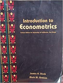 Book Introduction to Econometrics: custom edition for the University of Californica, San Diego