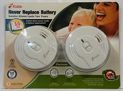 Kidde Longlife Ionization Sensor Smoke Alarm Twin Pack