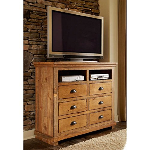 Progressive Furniture Willow Media Chest, Distressed Pine (Distressed Media Chest)