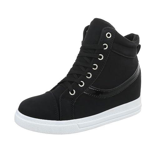 Ital-Design Zapatos para Mujer Zapatillas Plataforma Zapatillas Altas: Amazon.es: Zapatos y complementos