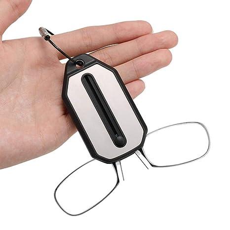 Gafas De Lectura Sin Patas Clip De Nariz Mini/SOS Hombres Y Mujeres Presbicia Llavero Portátil Gafas De Lectura Dioptría + 1.0 + 1.5 + 2.0 + 2.5 + 3.0 ...
