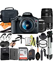 $699 » Canon EOS Rebel T7 DSLR Camera 24.1MP Sensor with EF-S 18-55mm & EF 75-300mm Dual Lens, SanDisk 64GB Memory Card, Case, Tripod and ZeeTech Accessory (Black, 23pcs Bundle)