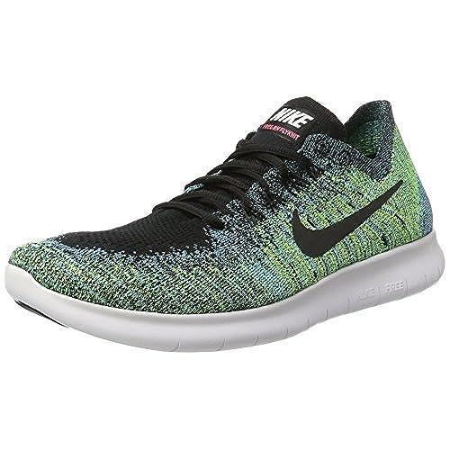 outlet Nike Men's Free RN Flyknit 2017 Running Shoe  BLACK/BLACK-VOLT-CHLORINE