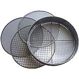 Practicool Tamis avec treillis en acier inoxydable 4 tailles de mailles interchangeables Tailles 3 / 6 / 9 / 12mm