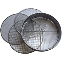 Practicool Stainless Steel Garden Potting Sieve/Riddle - with 4 interchangeable mesh sizes - 3,6,9,12mm