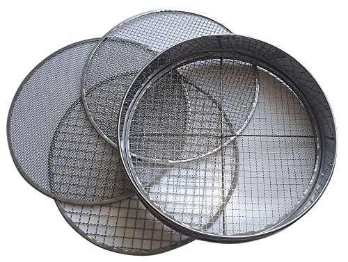 Practicool Garden Potting Mesh Sieve - Sifting Pan - Stainless Steel Riddle - Mix...