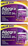 Allegra Adult 24 Hour Allergy Tablets, 180Mg, 70 Count- (2 Pack) Ku#xD