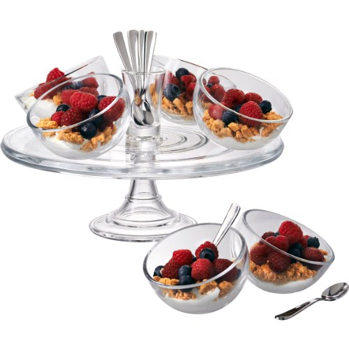 Artland 15Piece Orbit Dessert Set, Clear