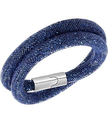 Double Bracelet Swarovski Stardust , Blue , 40 CM , 5092090