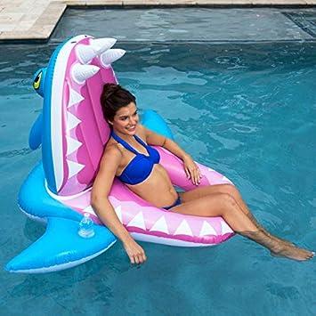 GGreenary Cocodrilo Inflable Gigante Piscina Juguetes para niños Adultos Montar en un tiburón Inflable Colchón Boya Anillo de natación Silla de salón (Color : Blue) : Amazon.es: Juguetes y juegos
