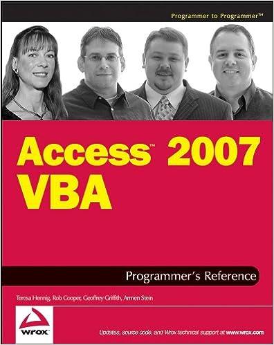Access 2007 Vba Ebook
