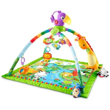 Gymini Lights (Deluxe Gym Lights And Rainforest Melodies Music Activity Baby New Play Mat Tiny Love Gymini Super Musical Mobile)