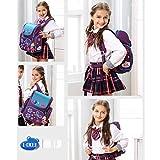 Moonwind Kids Backpacks for Girls Princess School Book Bags Schoolbag Elementary (Purple/Butterfly)