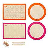 4-Piece Silicone Baking Mat Set,GUANCI 2-Large