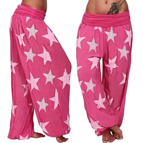 ZHRUI Pantalones de Yoga para Mujer de Harem Pantalones de Verano para Mujer Pantalones, recortados de Talle Alto Baggy Casual Running Sport Outfit Ropa ...