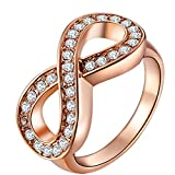 Gorgeous Angel Women's 18K Rose Gold Plated Infinity Rings...