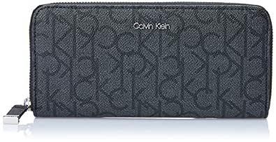 Calvin Klein Women's Hudson Zip Around Wallets, Asphalt/Black, One Size